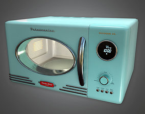 Retro Microwave Midcentury Collection PBR Game 3D model