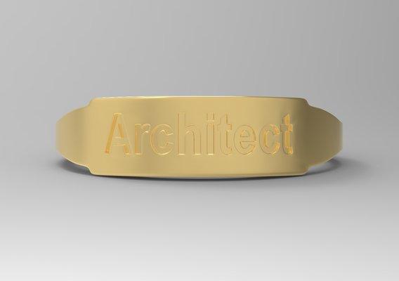 Architect Female Ring Gold