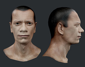 3D model Male Human Character Head Game Ready 10
