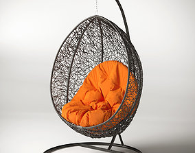 Swing cocoon hanging rotan chair 3D