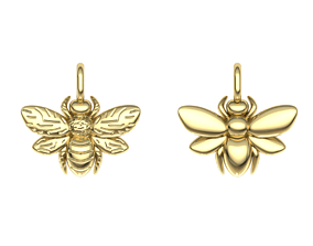 print 3D print model Bee pendant