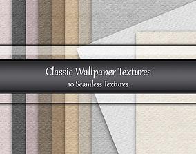 Classic Wallpaper Seamless Textures Set 3D