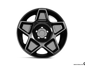 Wheel Disk SATIN BLACK 3D model