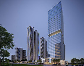 3D Skyscraper Office center 001