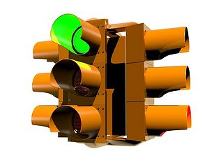 Traffic Light - Four Way 3D