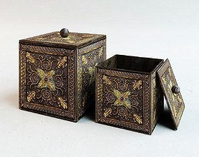 ancient feature golden box 3D asset