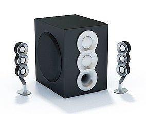 Modern Audio Surround Sound System 3D model