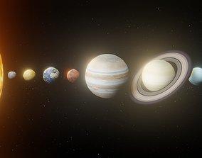 Photorealistic Solar System 8k Textures 3D VR / AR ready