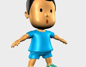 Boy Character Cartoon 3D asset