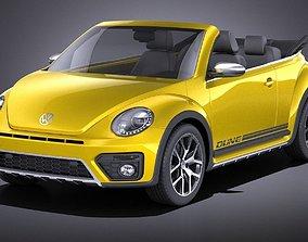 Volkswagen Beetle Dune Convertible 2017 VRAY 3D model