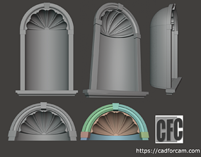 WoodCarving Niche - 3d model for CNC - NicheCFC01