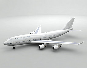 Boeing 747-400 Airliner - Generic White 3D asset