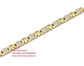 1626 Diamond Bracelets 3D print model