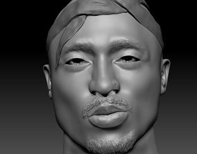 2Pac Tupac Shakur Bust 3D Print rigged