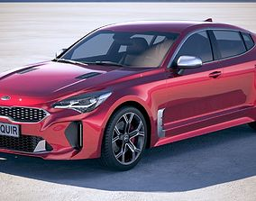 3D model Kia Stinger 2018