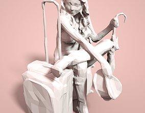 Girl Low poly Sculpture 3D print model