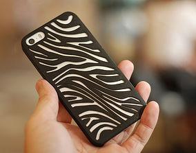 3D printable model Zebra Iphone 5 Case