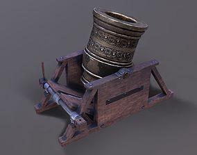 3D model Mortar canon lowpoly