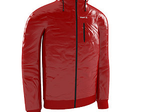 Red Craft Jacket 3D model