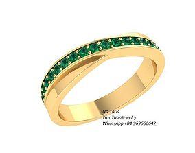 1404 luxury diamond ring 3D print model