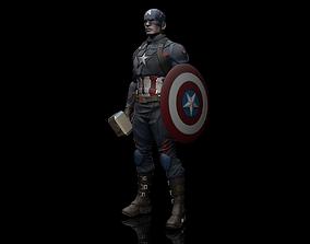 Captain America Statue 3D Print Ready