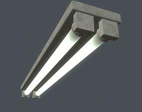 Fluorescent Light 3D asset