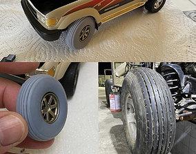 Offroad Desert Balloon Tires Tyres 3D print model