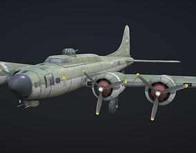 3D model B-17 Hand-Painted