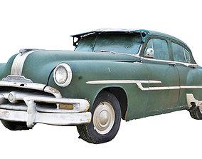 3D model low-poly Classic Car Wreck