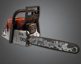 Chainsaw 01 TLS - PBR Game Ready 3D model