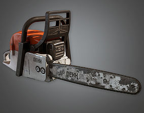3D asset Chainsaw 01 TLS - PBR Game Ready
