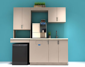 3D asset low-poly Office Kitchen Cabinets