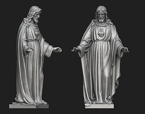 Jesus with Sacred Heart Statue 3 3D printable model
