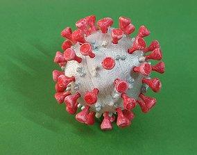 biology 3d print model of Covid-19