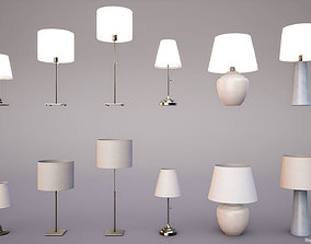 3D asset Table lamps PBR Game Ready