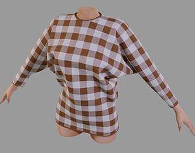 3D model Dolman shirt