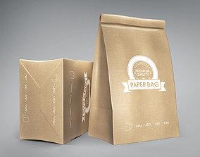 Paper bag chips 3D