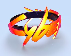 Cyberpunk ring cosplay 3d model for print
