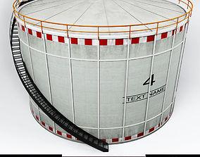3D model VR / AR ready Oil tank gas industrial cylinder