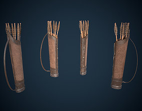 Viking Quiver Game-Ready 3D asset