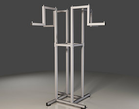 3D metal Clothes Hanger Stand