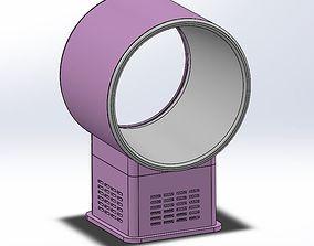 Bladeless desktop fan air multiplier 3D printable model
