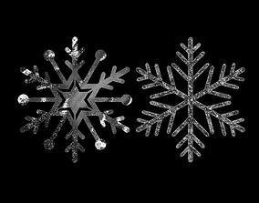 various Snowflake 3D