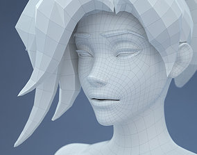 3D model Low Poly Base Mesh Female