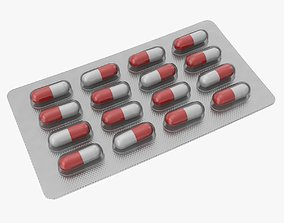 3D model low-poly Pills Tablets