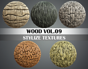 3D asset Stylized Wood Vol 09 - Hand Painted Texture
