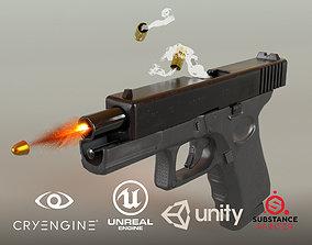 Glock 19 PBR 3D asset
