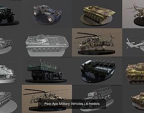 3D model Post-Apo Military Vehicles