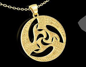 3D printable model Celtic Patterns Pendant jewelry Gold