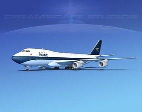 3D Boeing 747-100 Jumbo Jet BOAC